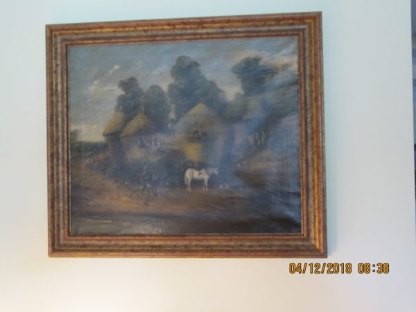 Repaired late 1800s painting
